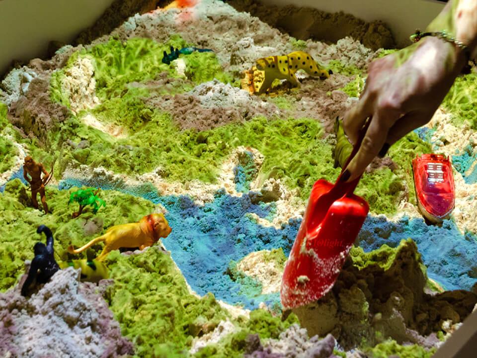 Песочница с проекцией ландшафта Львов