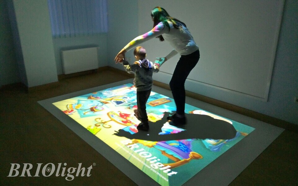 interactive floor, in one of the centers
